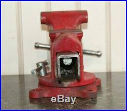 Vintage Columbian D43 1/2 M4 3 5/8 Wide Jaws Swivel Base Bench Vise Made in USA