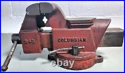 Vintage Columbian D45 Vise 5 Wide Jaw Swivel Base & Anvil