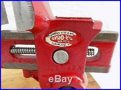 Vintage Columbian Gyro Vise No. 73 1/2 Cleveland USA With Swivel Base 15 Lbs