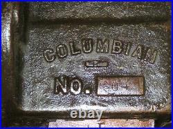 Vintage Columbian No. 604 Blacksmith Bench Vise with Swivel Base 4 Jaws NICE