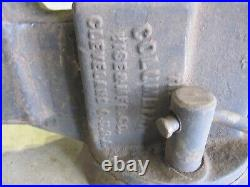 Vintage Columbian No. 604 Swivel Base Bench Vise 4 Jaws Blacksmith
