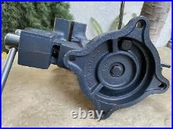 Vintage Craftsman 5-1/2 Bench Vise Swivel Base Pipe Jaws 51871 38 lbs. USA