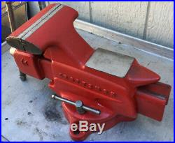 Vintage Craftsman 5 Bench Vise With Swivel Base And Pipe Jaw MADE IN USA