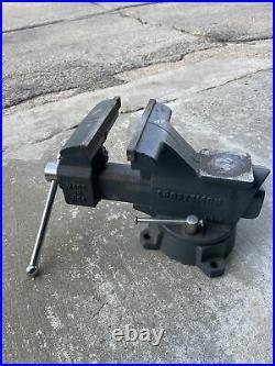 Vintage Craftsman USA No 51856 6-1/2 Swivel Base Bench Vise 39lbs. Barely used