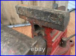 Vintage Desmond Simplex no. 500 Bench Vise withSwivel Base 5 jaw width USA MADE