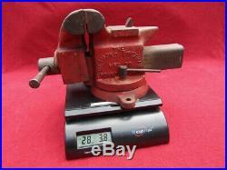 Vintage Desmond Stephan Simplex Utility No. 500 Swivel Base Bench Vise 5 Jaws