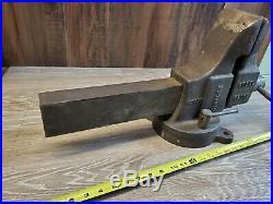 Vintage Desmond Stephen Co. Simplex Vise 42CPS Swivel Base 4-1/2 Jaws