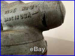 Vintage Early Pat Pend Wilton Bullet Vise No 3 CHICAGO with Swivel Base Early