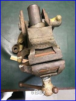 Vintage Emmert Machinists Vise RARE Model 6a 3 Jaws withSwivel Base Jaw Covers
