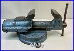 Vintage FPU Bison Bullet Style #326 Bench Vise 4 swivel base Very Good Cond
