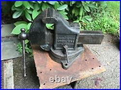 Vintage L S Starrett 924 1/2'' Swivel Base Vise Athol MASS weighs 75 pounds