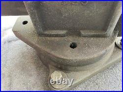 Vintage L S Starrett 925 Swivel Base Vise Athol MASS LS bench 5 10.75 Opening
