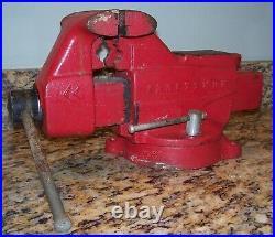Vintage Large Craftsman Bench Vise withAnvil & Swivel Base, 5 Jaws, 506-51811