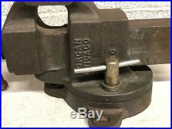 Vintage Morgan Chicago 140 Machinist Bench Vise with Swivel Base 4 Jaws
