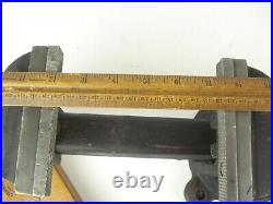 Vintage OHIO FORGE Bench Vise Vice 5 Jaws Anvil Pipe Jaws & Swivel Base NICE