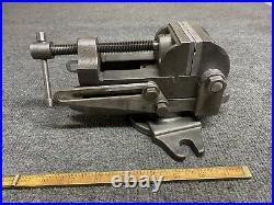 Vintage Palmgren Drill Press Vise No. 00 Tilting 2 1/2 Jaws With Swivel Base