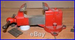 Vintage Prentiss Model 20 vise swivel jaw & base blacksmith knife makers tool
