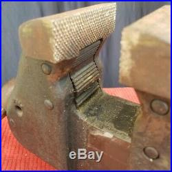 Vintage REED MFG Co. No. 10 Bench Vise with Swivel Base 3 1/2 Jaws, EXCELLENT