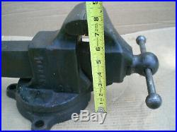 Vintage Reed 203 1/2 Bench Vise with Swivel Base 3 1/2 Jaws