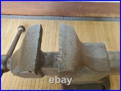 Vintage, Reed Bench Vise, Model 105 R, 5 Jaws, Stationary Non-Swivel Base