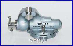 Vintage Restored Wilton 2 Baby Bullet Vise Swivel Base Vice
