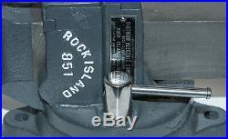 Vintage Rock Island Vise No. 851 Swivel Jawith Swivel Base 3-1/2 Jaw Vise RARE