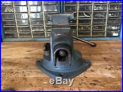 Vintage Sears CRAFTSMAN No. 5176 bench vise with swivel base