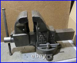 Vintage Simplex Bench Vise With Swivel Base And Pipe Jaw Made In USA