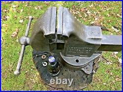 Vintage Starrett Vise, Machinist Vise Swivel Base 5 Anvil Model 925 Heavy duty