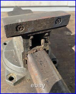 Vintage USA Made WILTON 1644 Swivel Base Bench Vise 4 Jaws SCHILLER PARK ILL