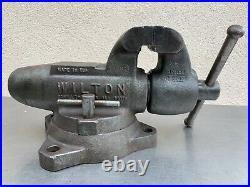 Vintage WILTON BULLET Bench Vise Swivel Base 4Jaws 60 lb Schiller Park IL