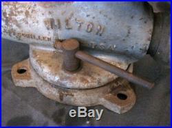 Vintage WILTON BULLET VISE Model S300 Swivel Base 3 Jaw Original Patina