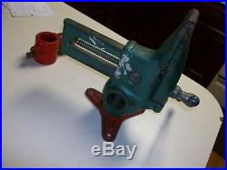 Vintage Will-Burt Co. Versa Vise 2-1/2 wide Jaws with a Swivel Base