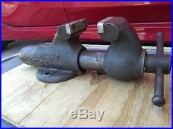 Vintage Wilton 3 Bullet Vise Combination 9300 8300n Non Swivel Base Soft jaws