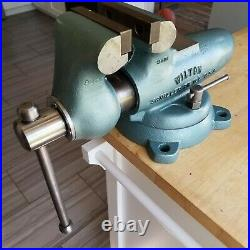 Vintage Wilton 4Jaw 9400 HD Bullet Bench Vise with Swivel Base 1959