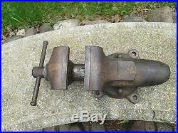 Vintage Wilton 4 1/2 Vise Bullet Bench Vise Heavy 39 lbs. Swivel Base Chicago