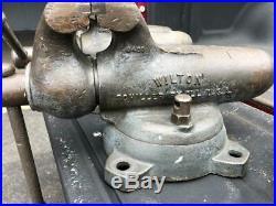 Vintage Wilton 8400 9400 4 Bench Bullet Vise Unrestored Works+ Swivel Base -Cap