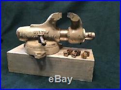 Vintage Wilton Baby Bullet Vise 2 Jaws Swivel Base Chicago USA 1941-57 Nice