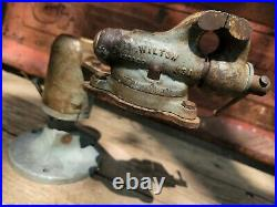 Vintage Wilton Baby Vise 2 Inch Small Swivel Base Early Powrarm No Date Stamp