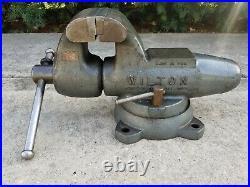 Vintage Wilton Bullet 450 Vise 4-1/2 Jaw Swivel Base Excellent Condition 1978