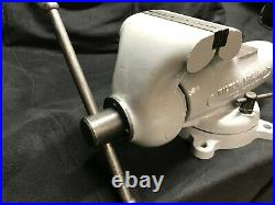 Vintage Wilton Bullet 6 Vise With Swivel Base Model 60 Dated 10-52 106lbs