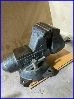 Vintage Wilton Bullet Bench Vise With Swivel Base And Pipe Jaw Made In USA