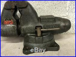 Vintage Wilton Bullet Model-C0 Vise with Swivel Base & Pipe Jaws