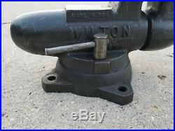 Vintage Wilton Bullet Vise 3-1/2 Jaw Locking Swivel Base