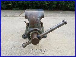 Vintage Wilton Bullet Vise 4-1/2 Jaw Swivel Base Good Condition 2 79