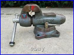 Vintage Wilton Bullet Vise 4 Jaw Locking Swivel Base 4 82