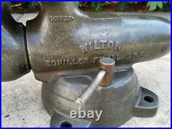 Vintage Wilton Bullet Vise 4 Jaw Locking Swivel Base 6 70