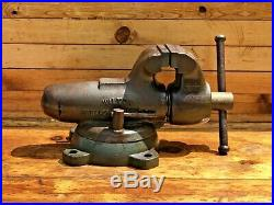 Vintage Wilton Bullet Vise 4 Jaws 54 Lb. With Swivel Base
