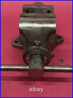 Vintage Wilton Bullet Vise, Machinist Swivel Base 3 1/2 Jaws, Copper Jaws 3-78