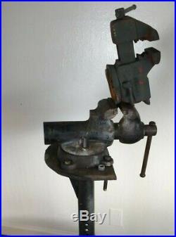 Vintage Wilton Cadet Vise Swivel Base 4 Jaw Hand Forged USA Made